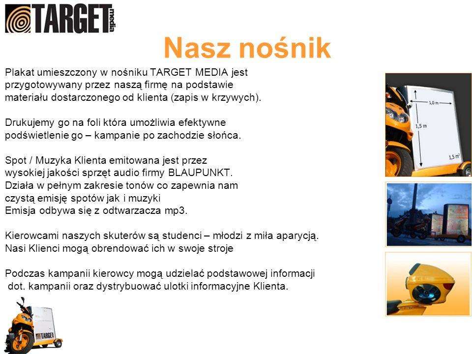 Nasz nośnik Plakat umieszczony w nośniku TARGET MEDIA jest