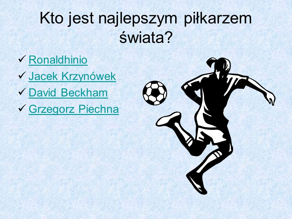 Kto jest najlepszym piłkarzem świata