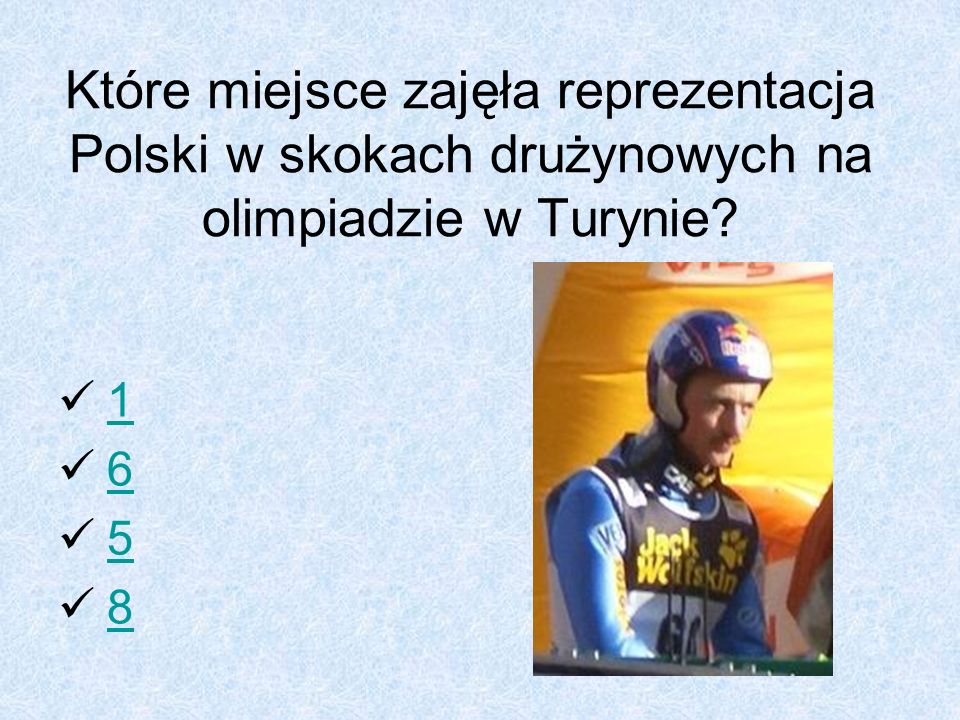 Które miejsce zajęła reprezentacja Polski w skokach drużynowych na olimpiadzie w Turynie