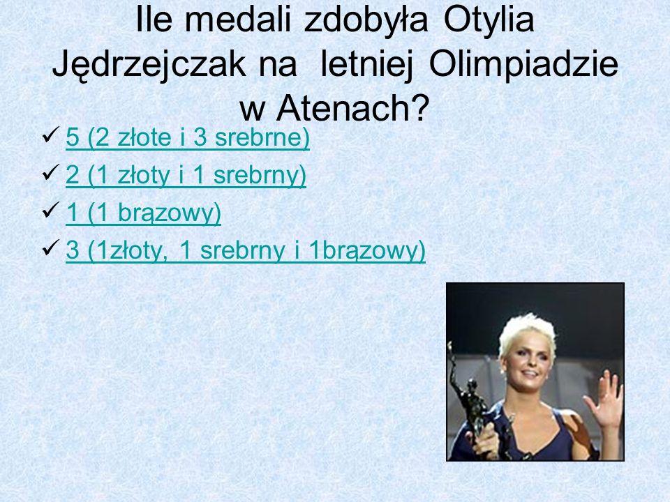 Ile medali zdobyła Otylia Jędrzejczak na letniej Olimpiadzie w Atenach