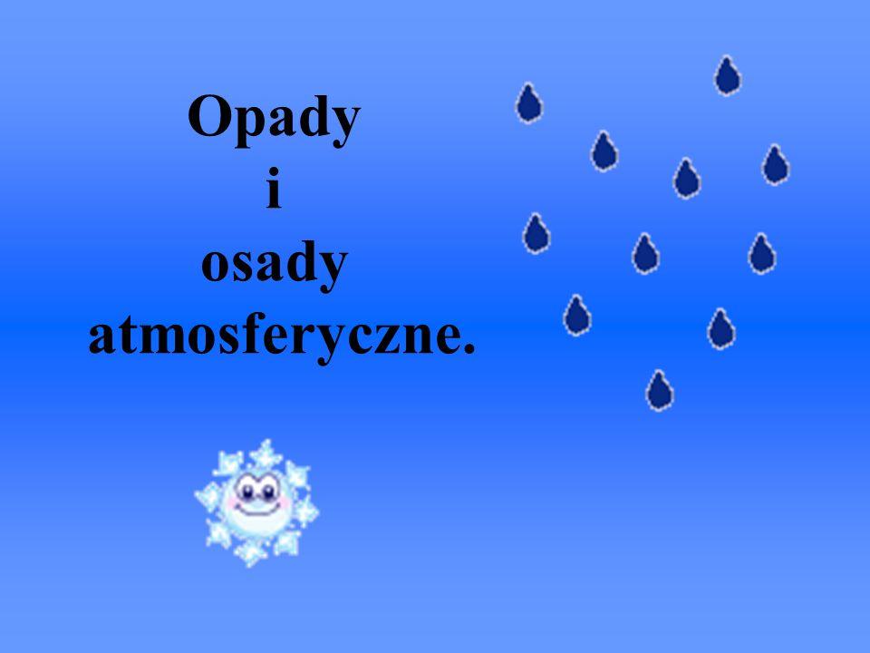 Opady i osady atmosferyczne.
