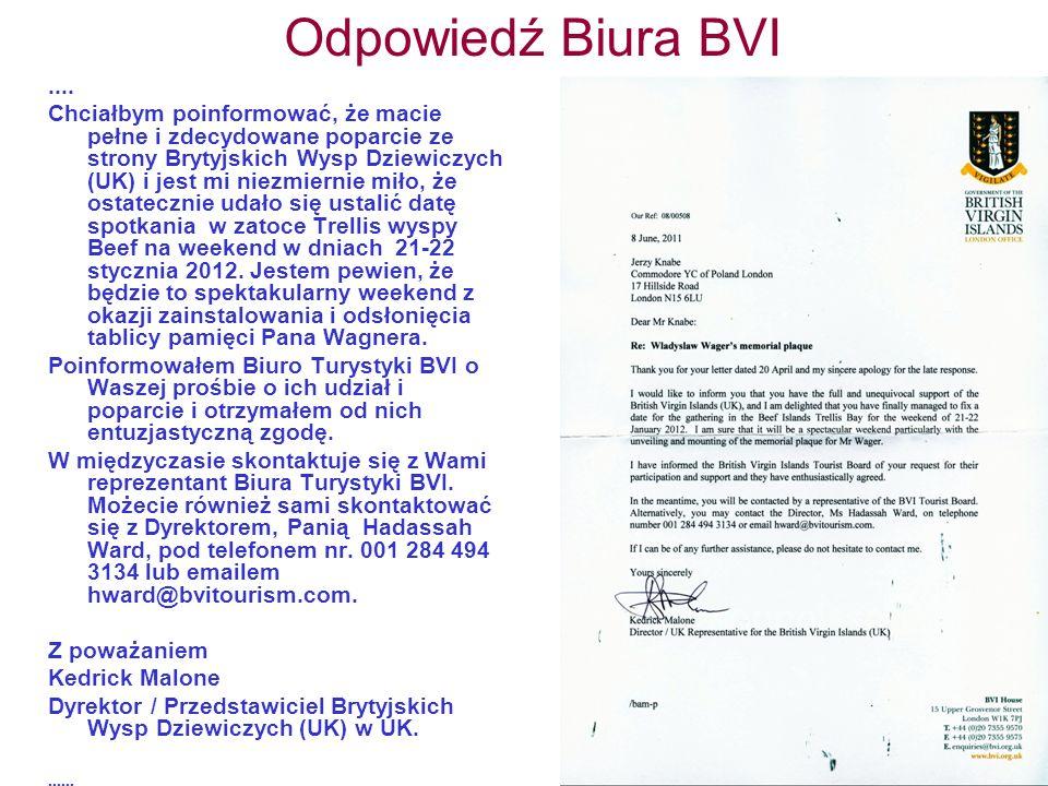 Odpowiedź Biura BVI....