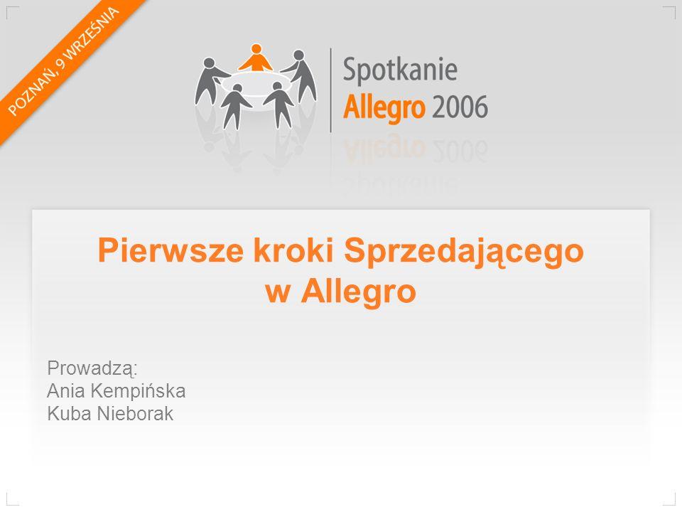 Pierwsze kroki Sprzedającego w Allegro