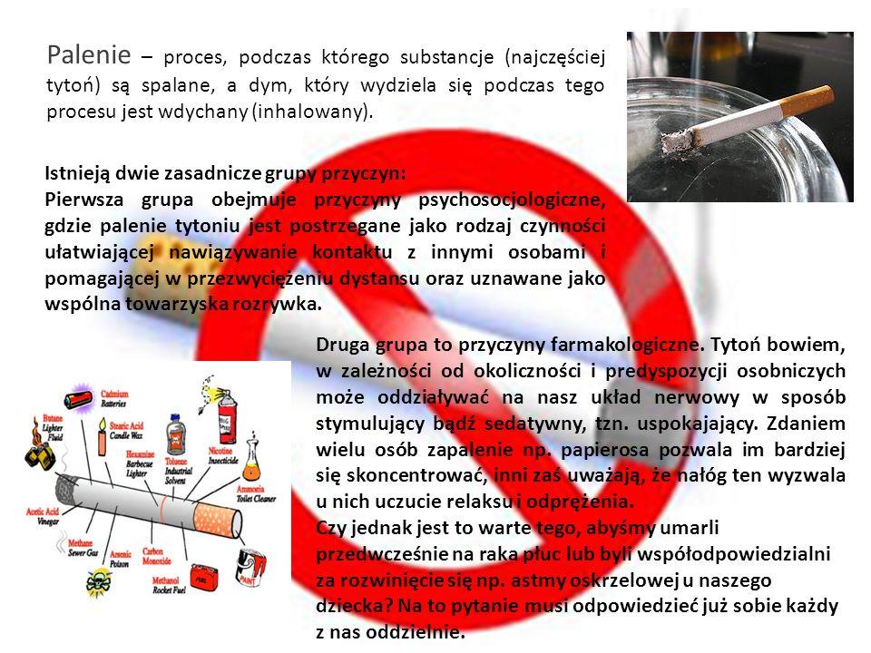 Palenie – proces, podczas którego substancje (najczęściej tytoń) są spalane, a dym, który wydziela się podczas tego procesu jest wdychany (inhalowany).