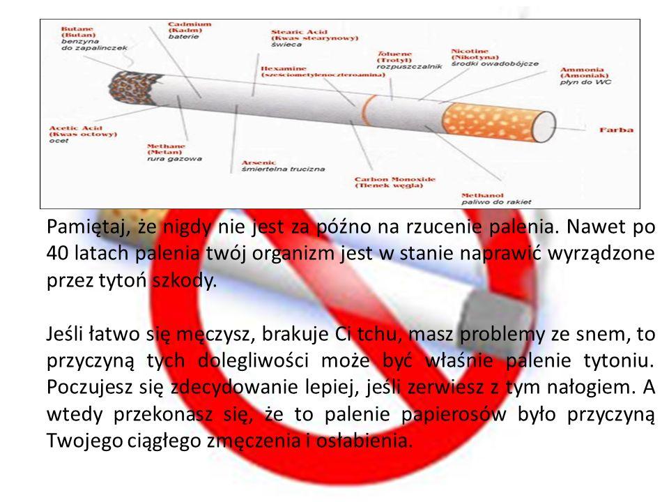 Pamiętaj, że nigdy nie jest za późno na rzucenie palenia