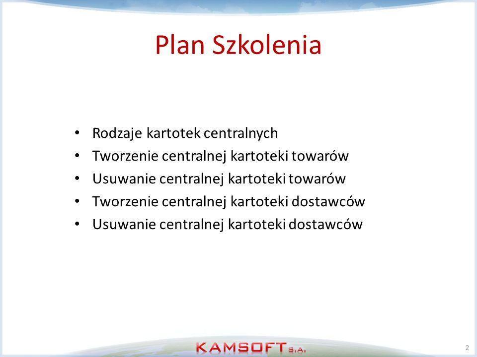 Plan Szkolenia Rodzaje kartotek centralnych