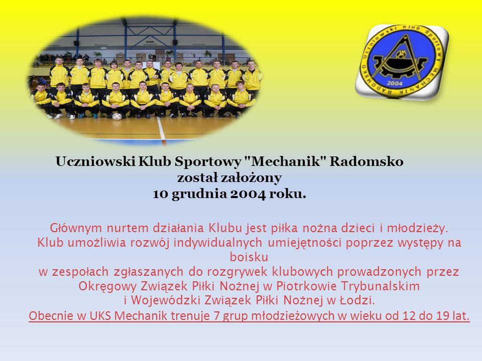 Uczniowski Klub Sportowy Mechanik Radomsko został założony