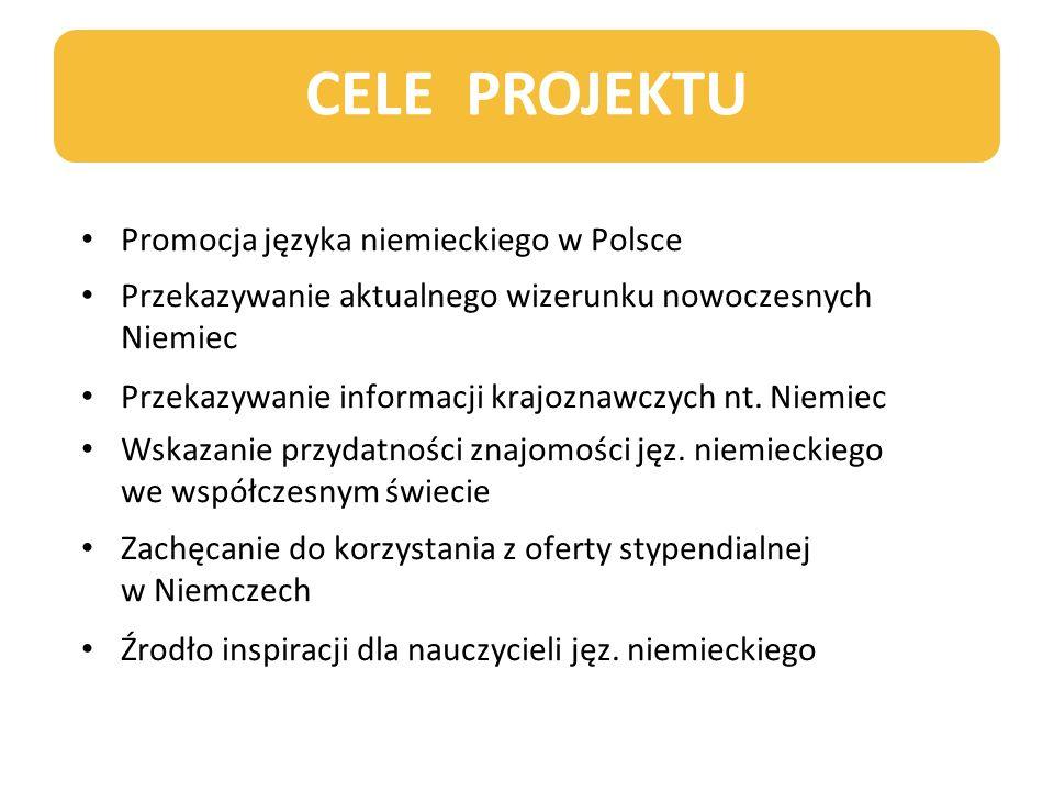 CELE PROJEKTU Promocja języka niemieckiego w Polsce