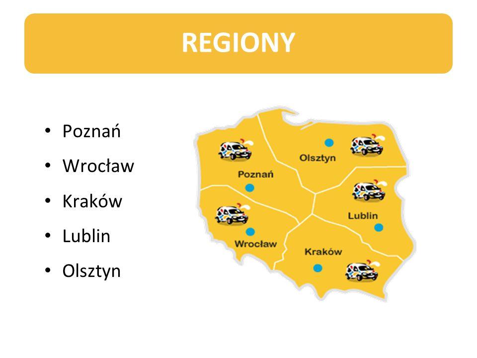 REGIONY Poznań Wrocław Kraków Lublin Olsztyn