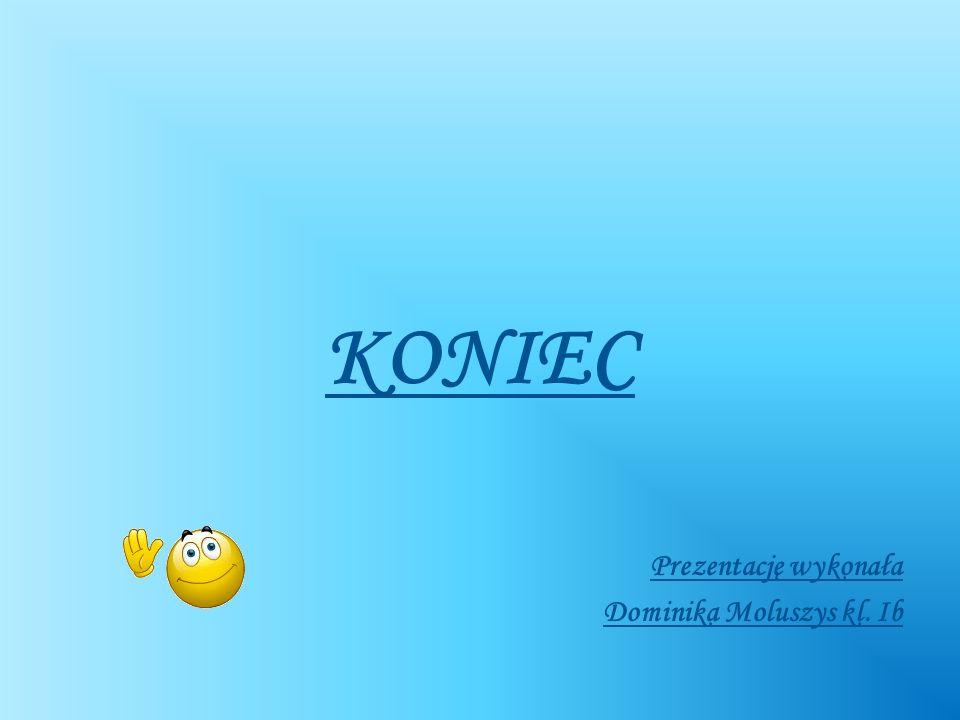 KONIEC Prezentację wykonała Dominika Moluszys kl. Ib