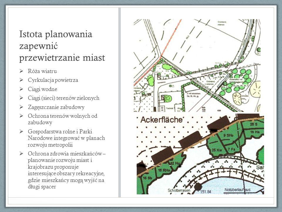 Istota planowania zapewnić przewietrzanie miast
