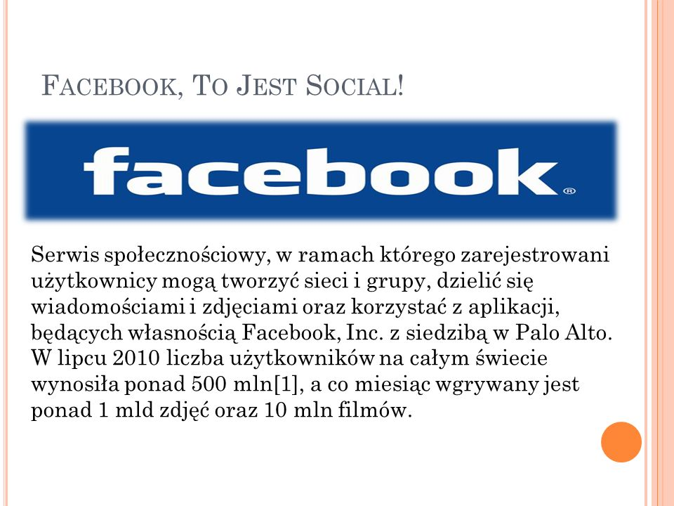 Facebook, To Jest Social!