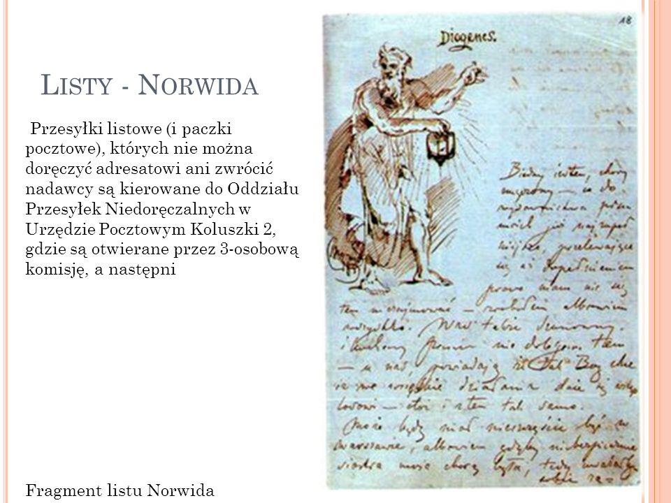 Listy - Norwida