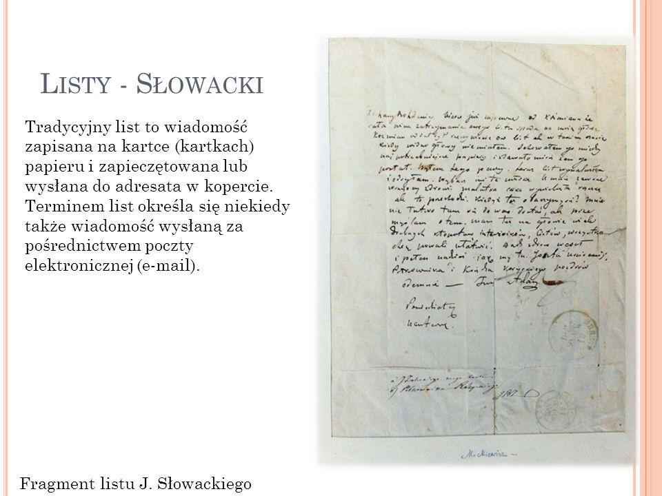 Listy - Słowacki
