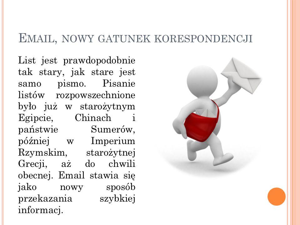 Email, nowy gatunek korespondencji