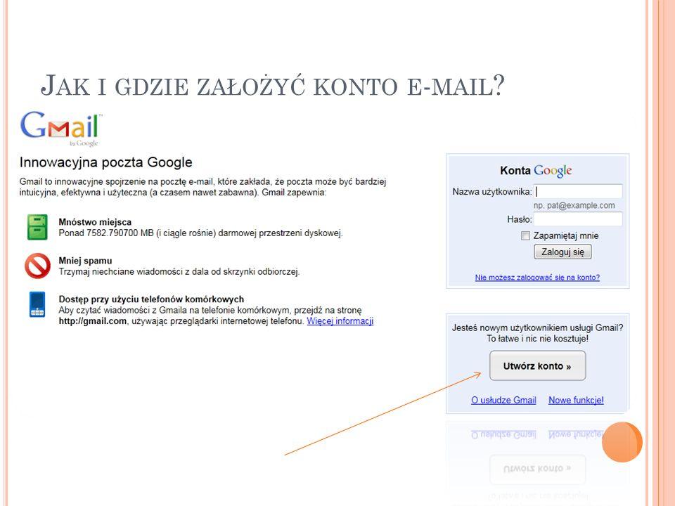 Jak i gdzie założyć konto e-mail