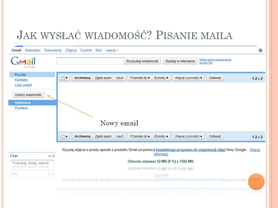 Jak wysłać wiadomość Pisanie maila