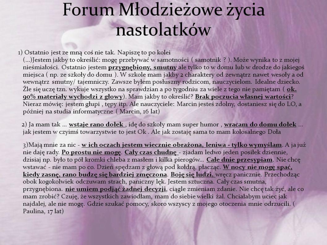 Forum Młodzieżowe życia nastolatków