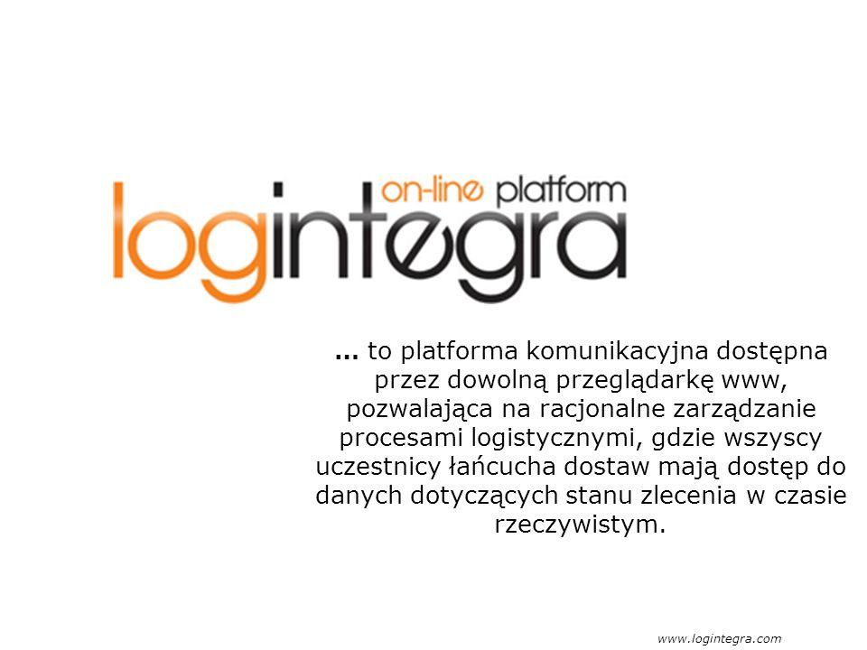 … to platforma komunikacyjna dostępna przez dowolną przeglądarkę www, pozwalająca na racjonalne zarządzanie procesami logistycznymi, gdzie wszyscy uczestnicy łańcucha dostaw mają dostęp do danych dotyczących stanu zlecenia w czasie rzeczywistym.