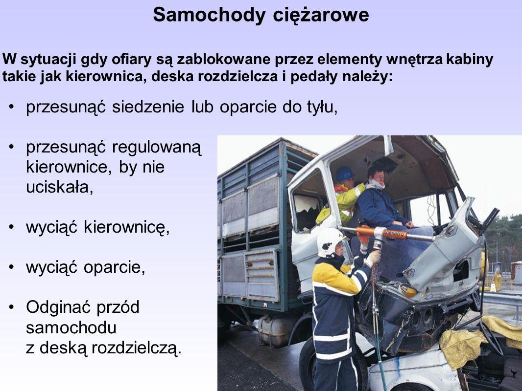 Samochody ciężarowe przesunąć siedzenie lub oparcie do tyłu,