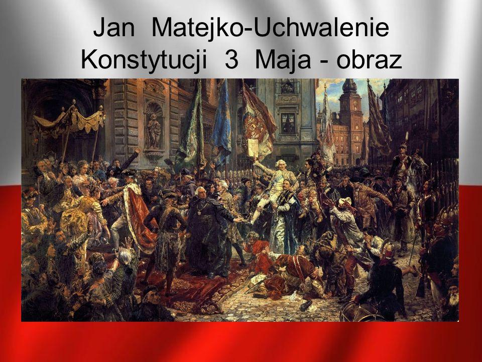 Jan Matejko-Uchwalenie Konstytucji 3 Maja - obraz