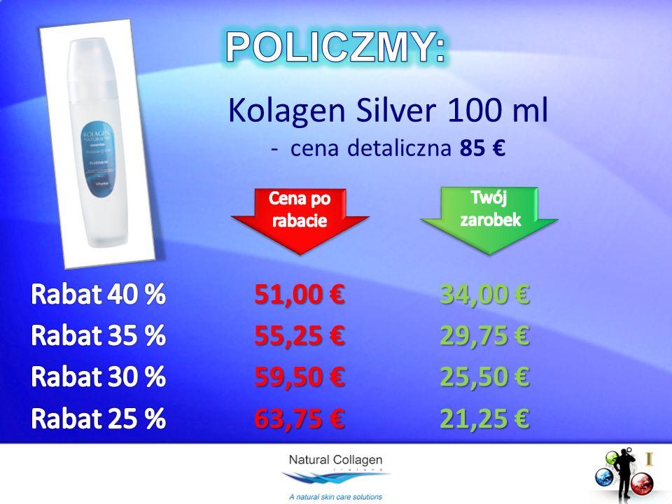 POLICZMY: Kolagen Silver 100 ml Rabat 40 % 51,00 € 34,00 €