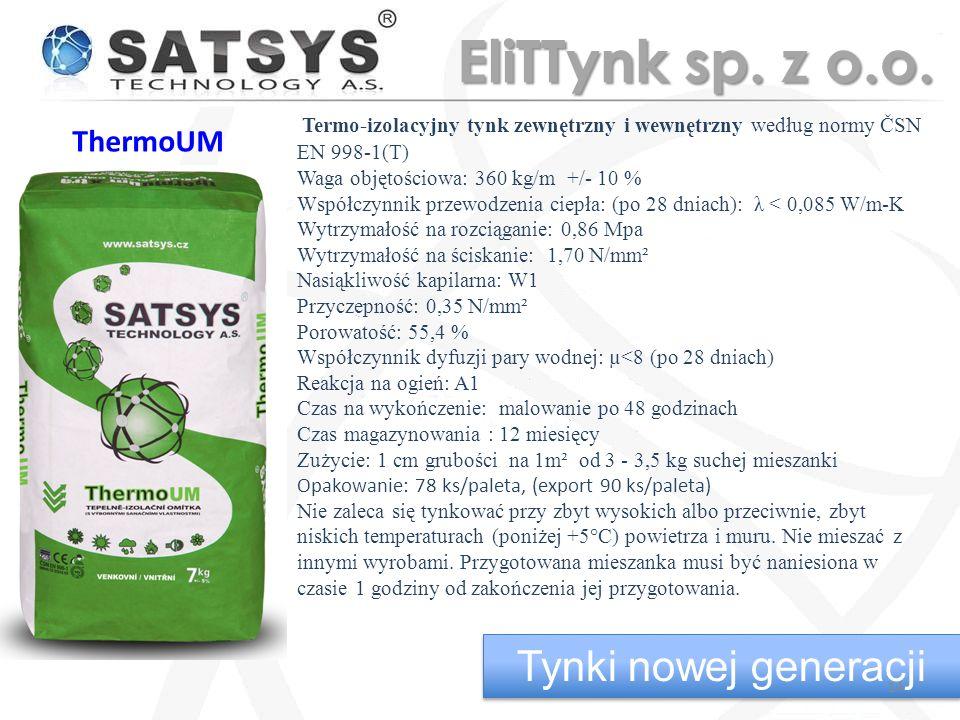 EliTTynk sp. z o.o. Tynki nowej generacji ThermoUM