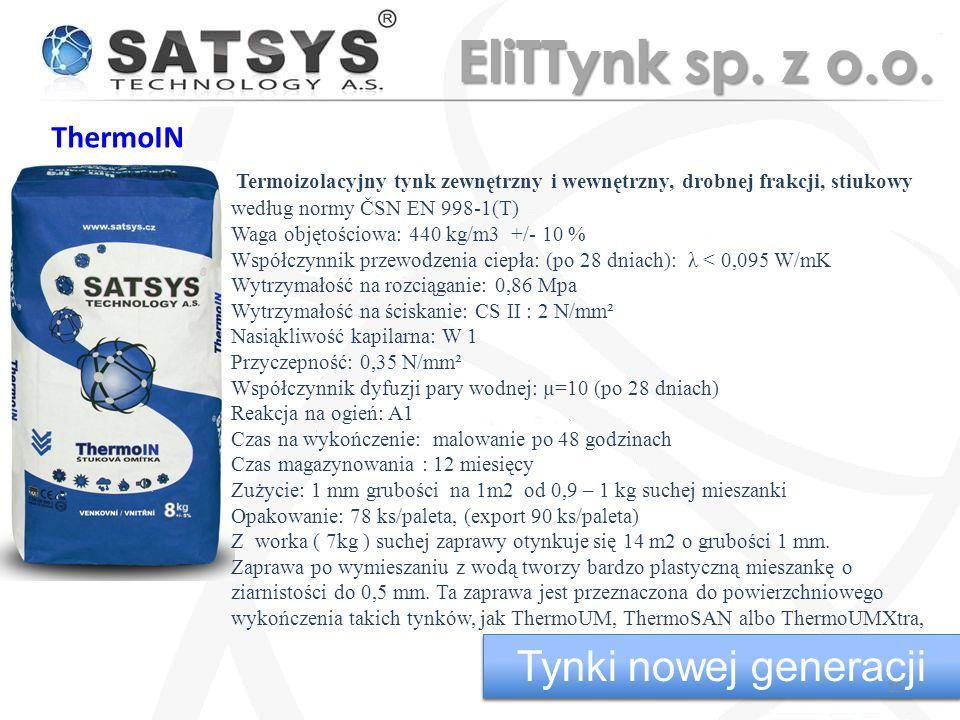 EliTTynk sp. z o.o. Tynki nowej generacji Tynki nowej generacji