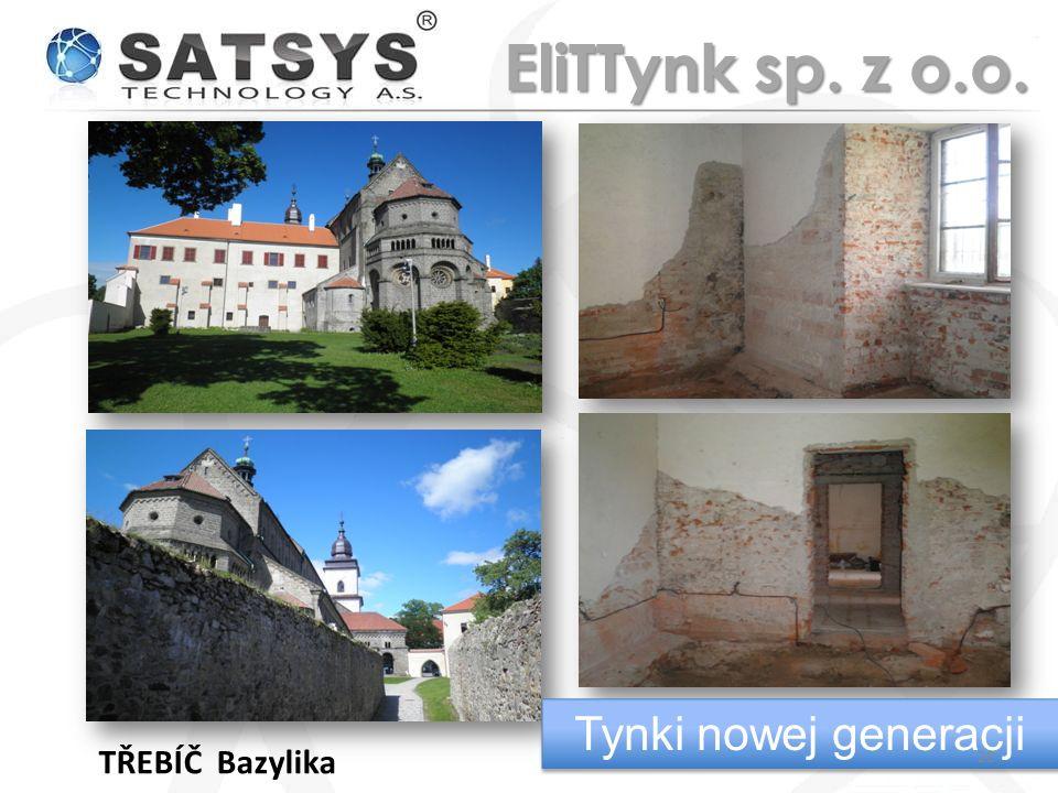 EliTTynk sp. z o.o. Tynki nowej generacji TŘEBÍČ Bazylika