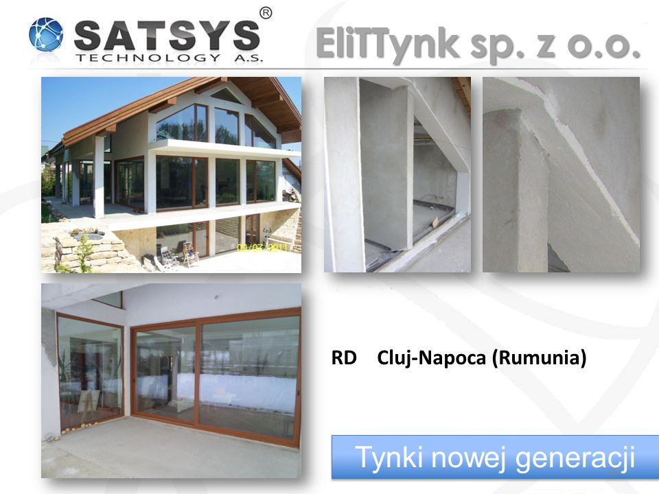 EliTTynk sp. z o.o. RD Cluj-Napoca (Rumunia) Tynki nowej generacji