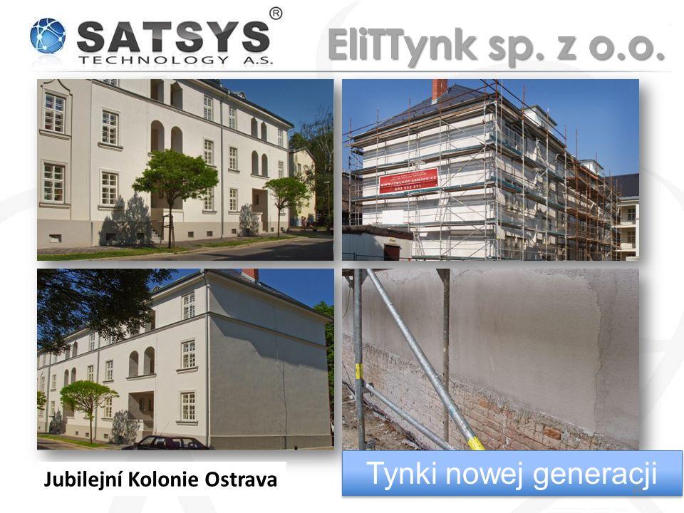 EliTTynk sp. z o.o. Tynki nowej generacji Jubilejní Kolonie Ostrava
