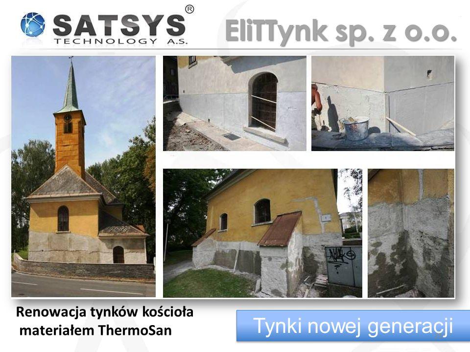 EliTTynk sp. z o.o. Tynki nowej generacji Renowacja tynków kościoła