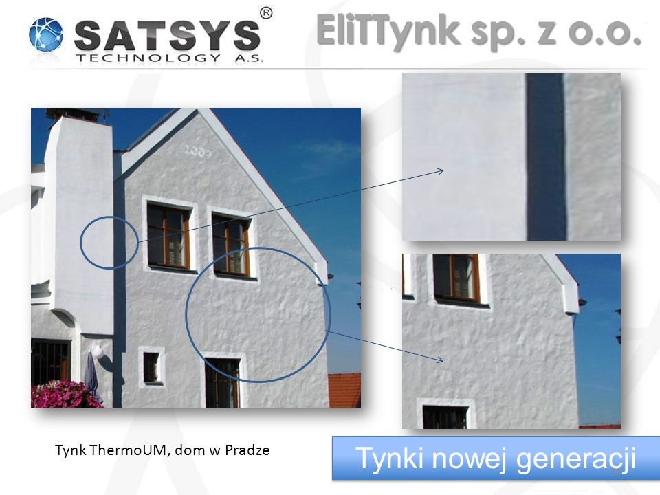 EliTTynk sp. z o.o. Tynk ThermoUM, dom w Pradze Tynki nowej generacji