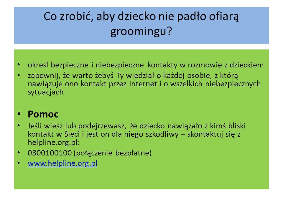 Co zrobić, aby dziecko nie padło ofiarą groomingu