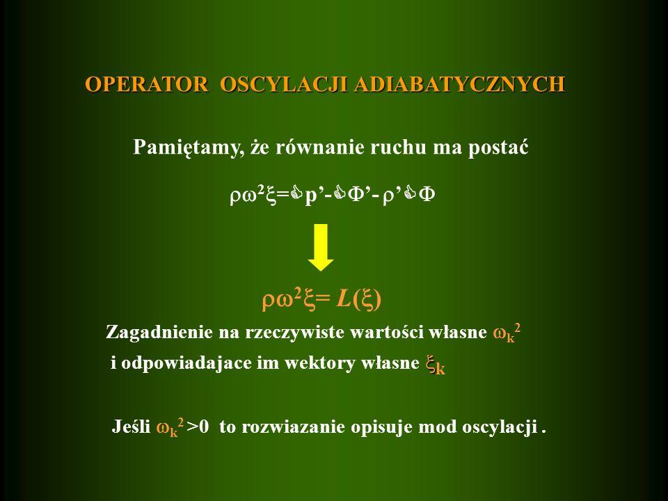 2= L() OPERATOR OSCYLACJI ADIABATYCZNYCH