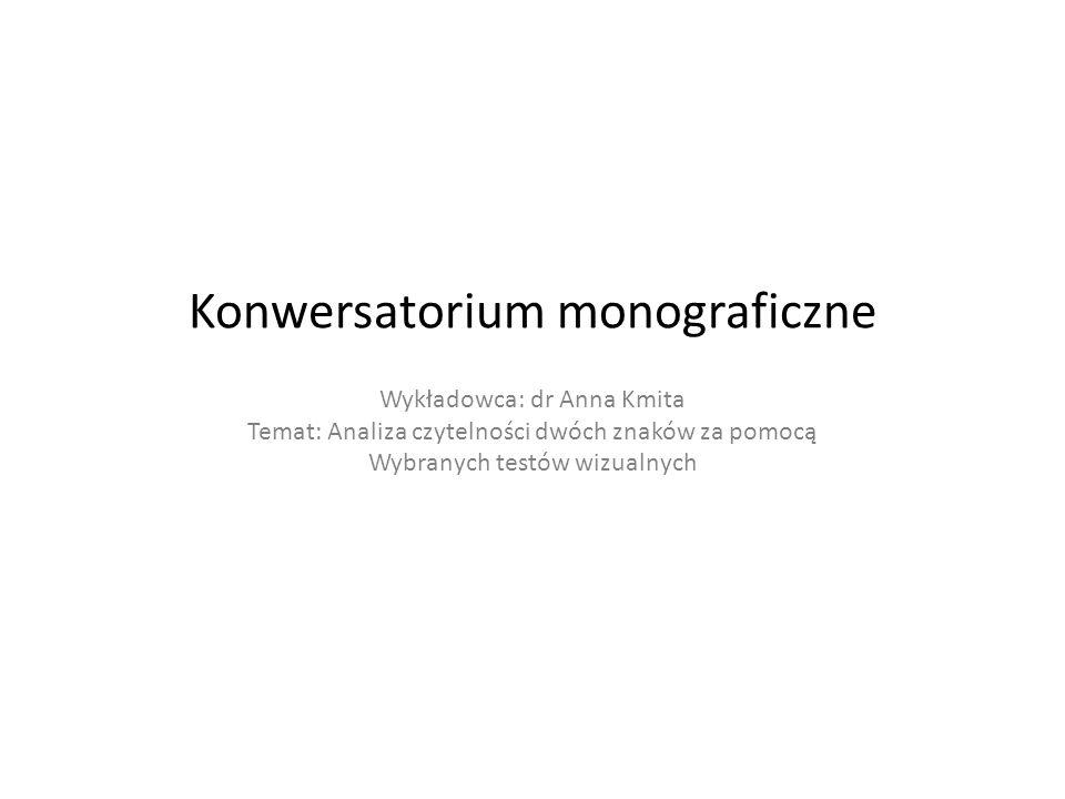 Konwersatorium monograficzne