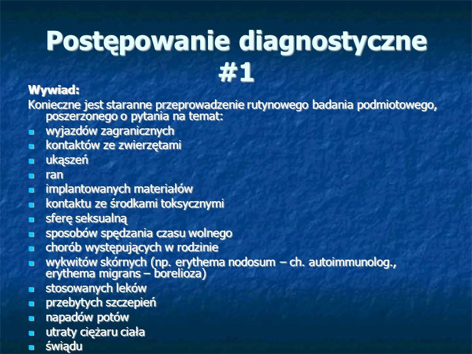 Postępowanie diagnostyczne #1