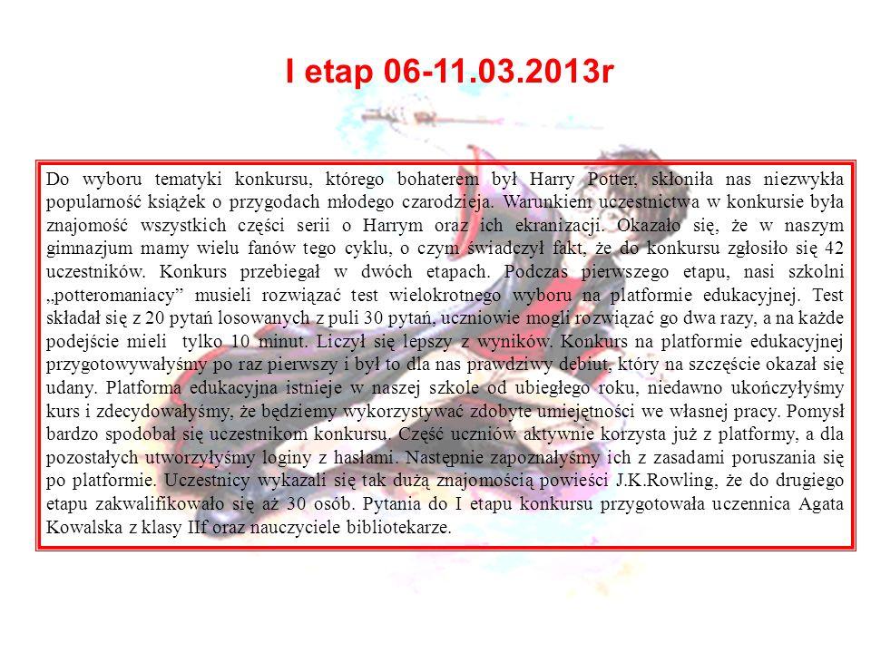 I etap 06-11.03.2013r