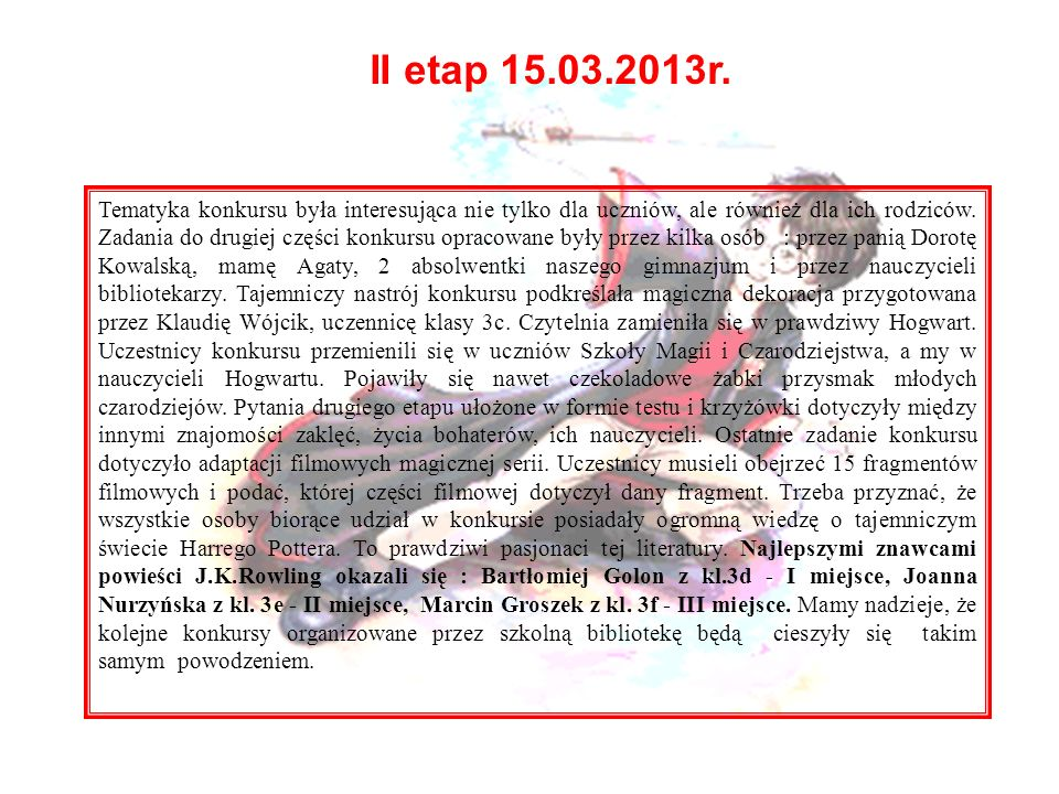 II etap 15.03.2013r.