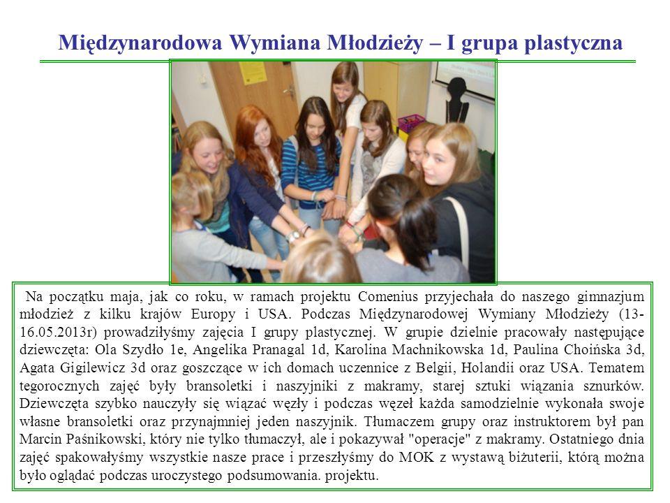 Międzynarodowa Wymiana Młodzieży – I grupa plastyczna