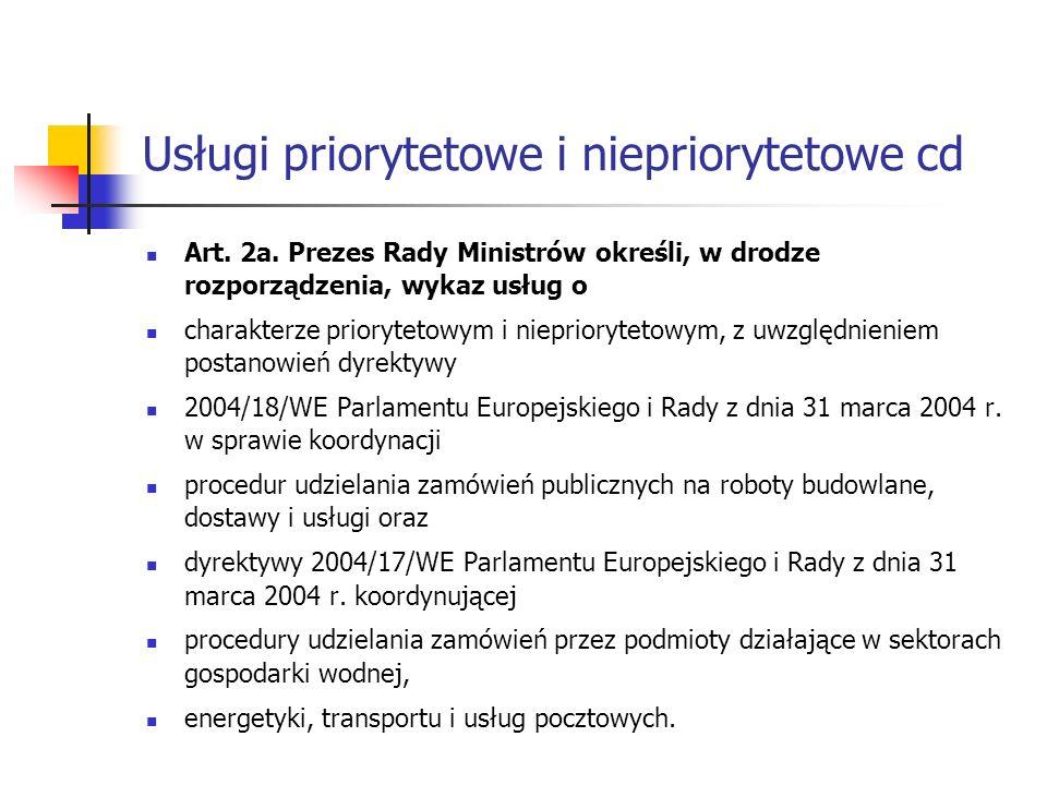 Usługi priorytetowe i niepriorytetowe cd