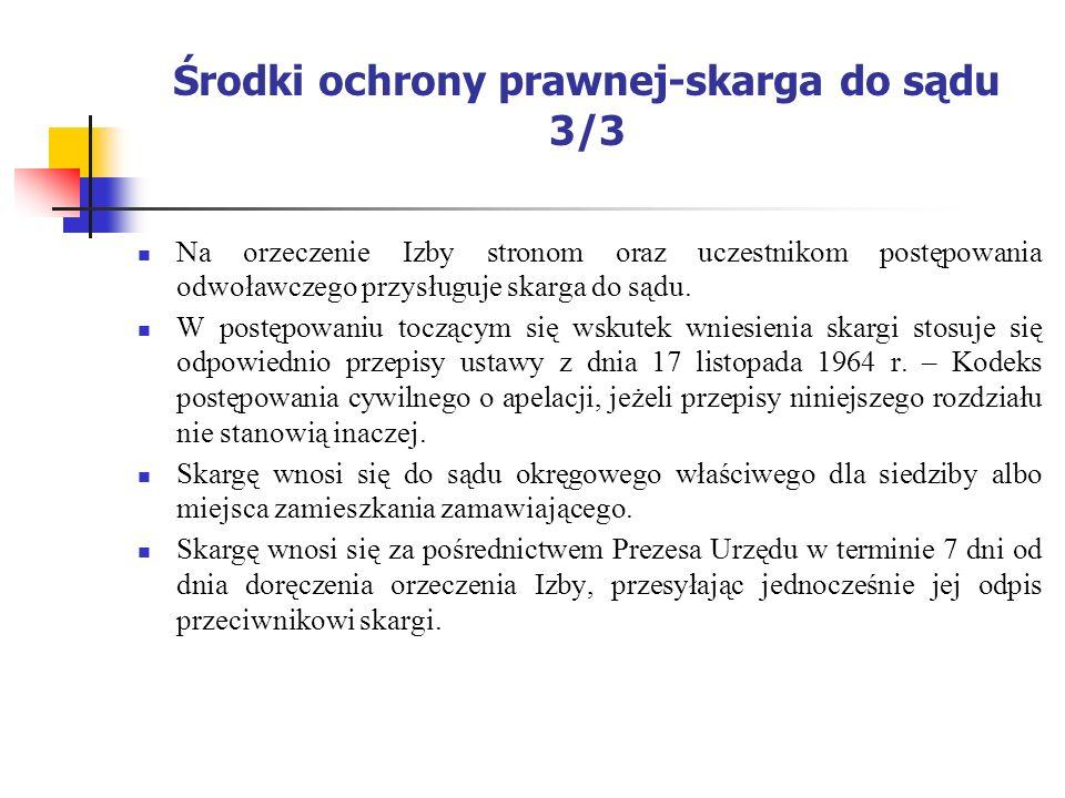 Środki ochrony prawnej-skarga do sądu 3/3