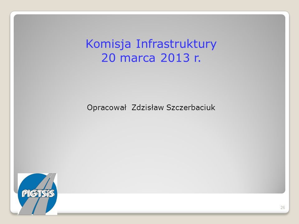 Komisja Infrastruktury 20 marca 2013 r.