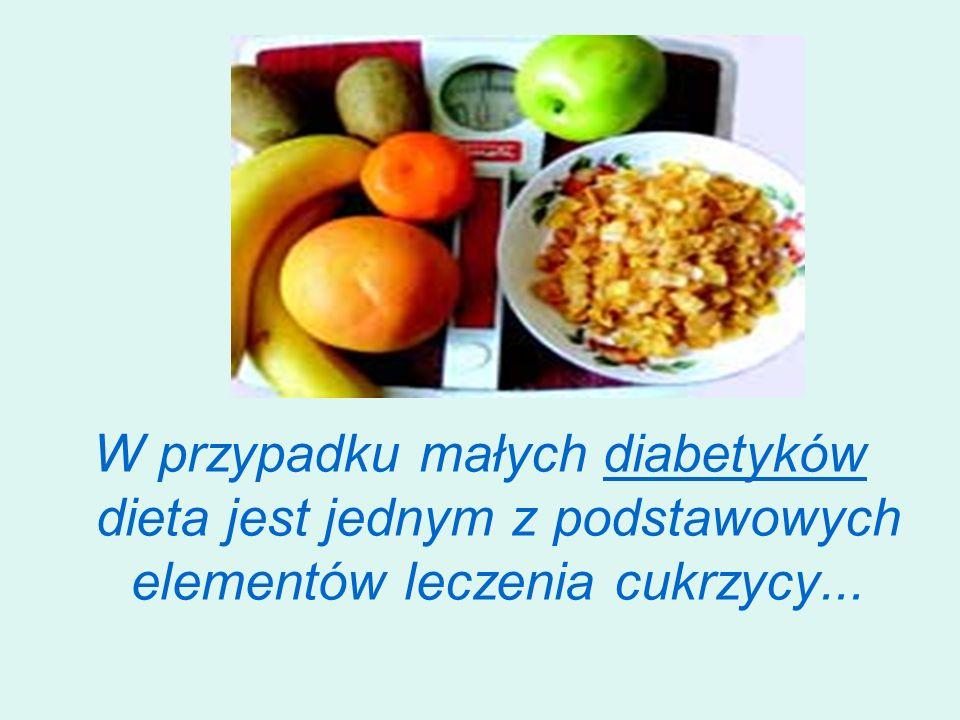 W przypadku małych diabetyków dieta jest jednym z podstawowych elementów leczenia cukrzycy...