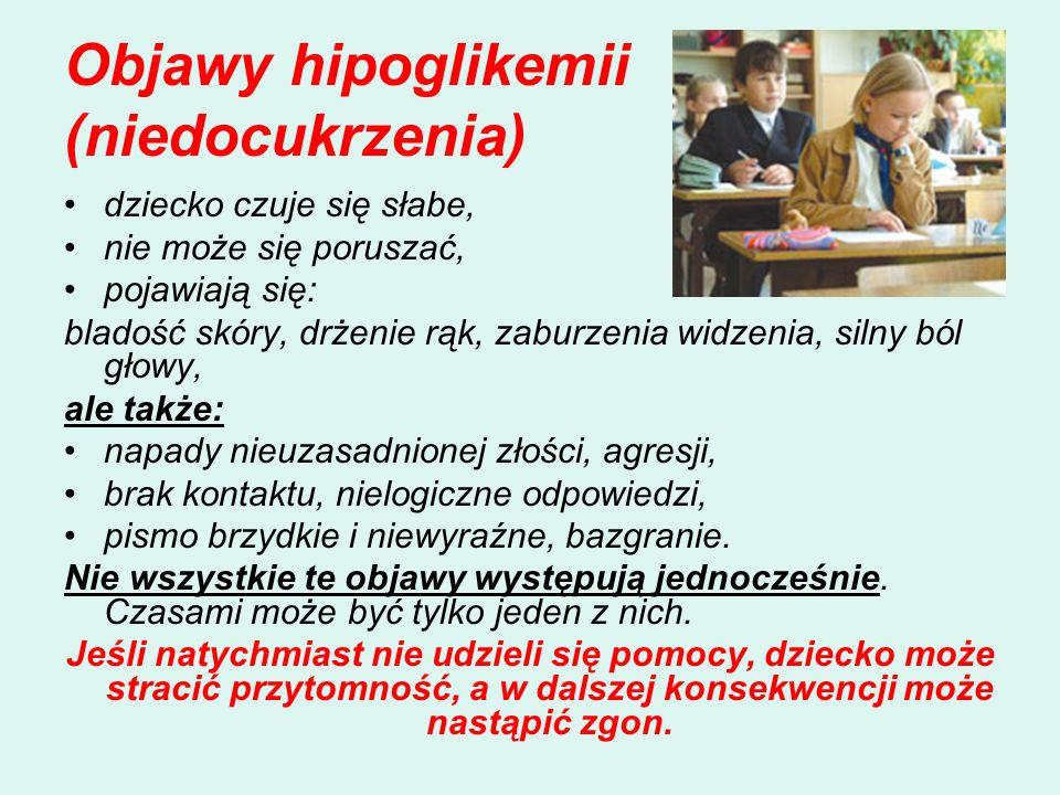Objawy hipoglikemii (niedocukrzenia)