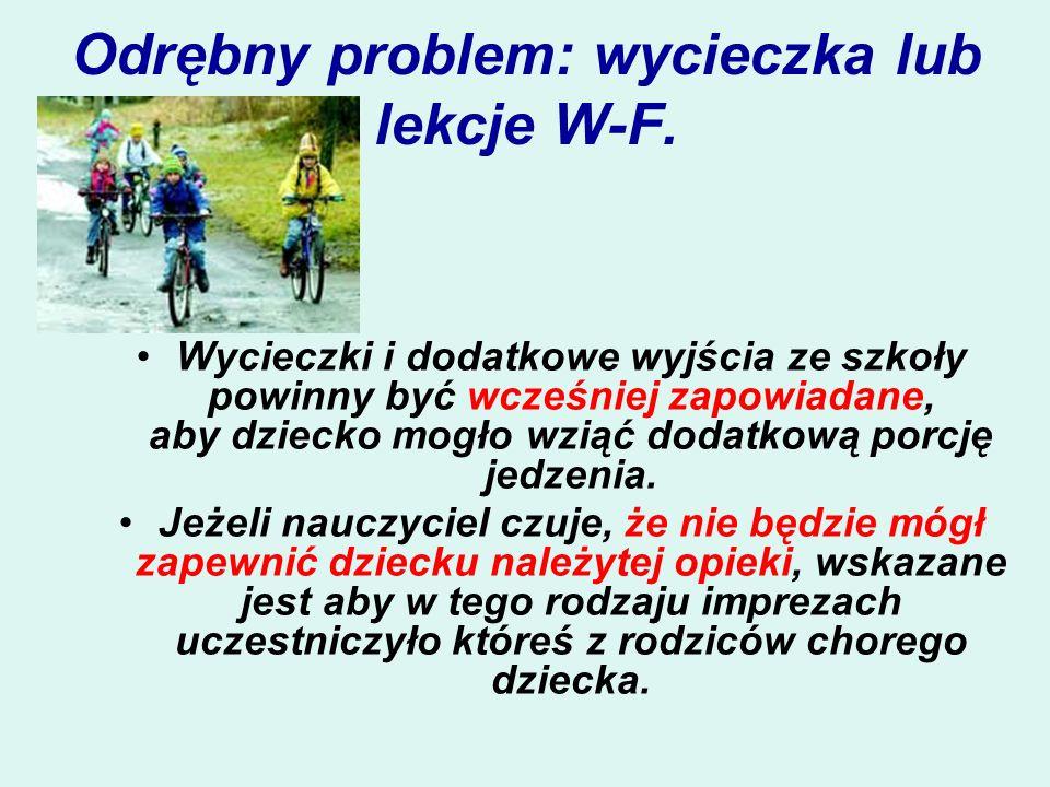 Odrębny problem: wycieczka lub lekcje W-F.