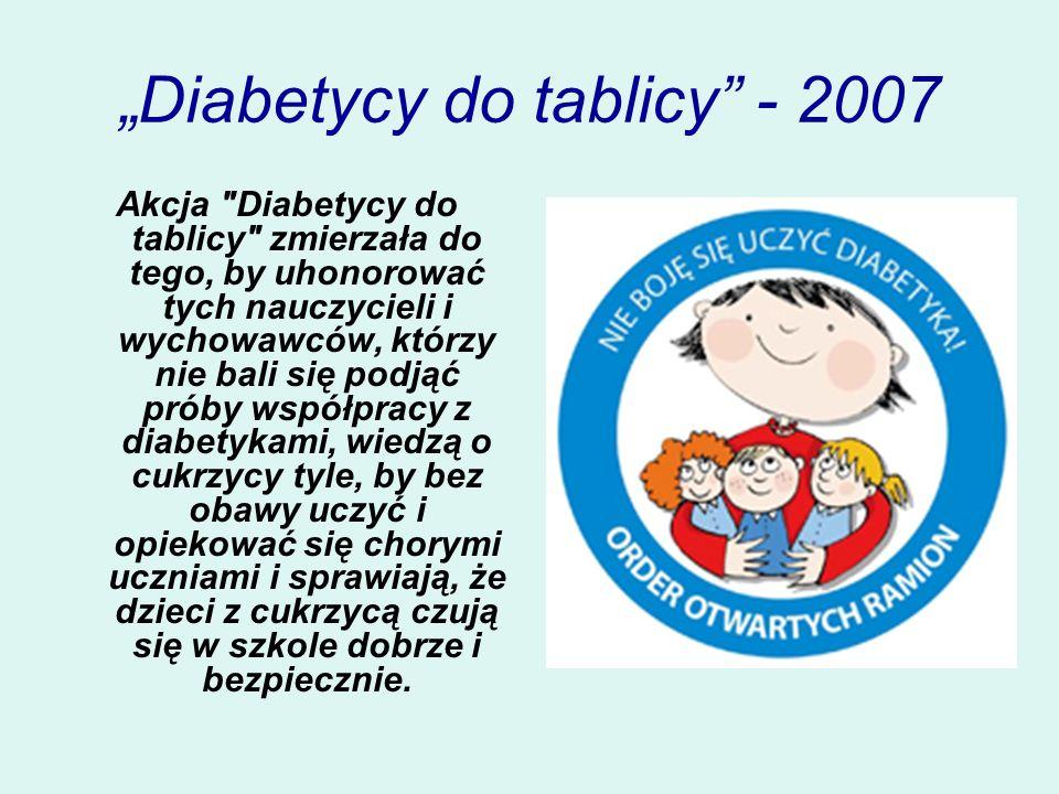 """""""Diabetycy do tablicy - 2007"""
