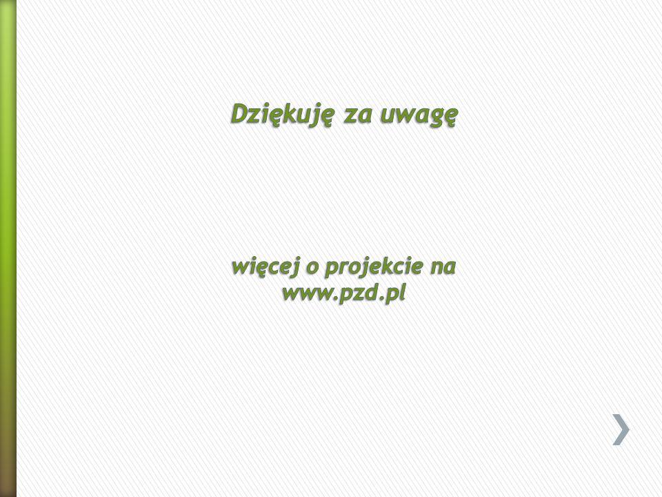 Dziękuję za uwagę Dziękuję za uwagę więcej o projekcie na www.pzd.pl
