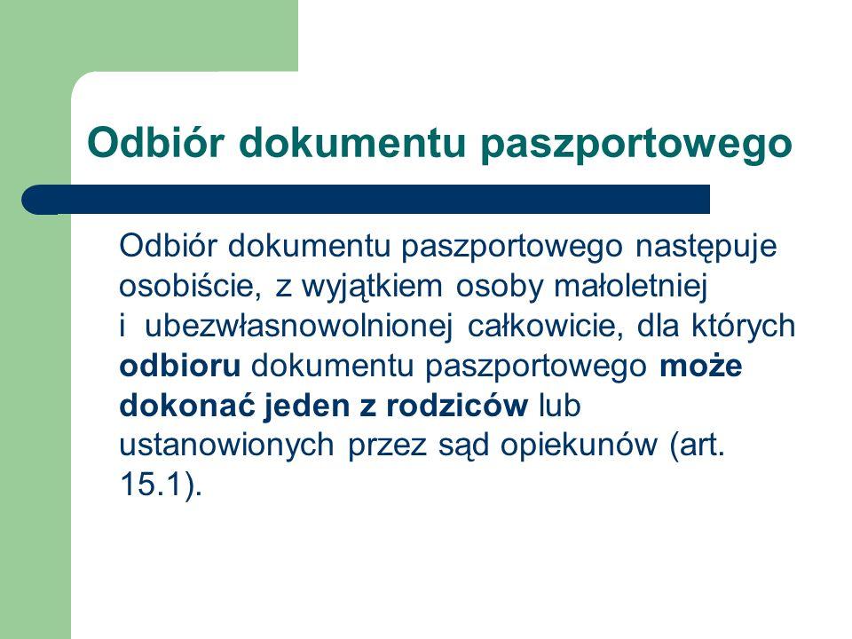 Odbiór dokumentu paszportowego
