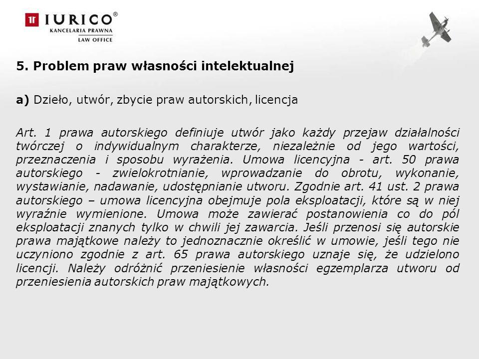 5. Problem praw własności intelektualnej